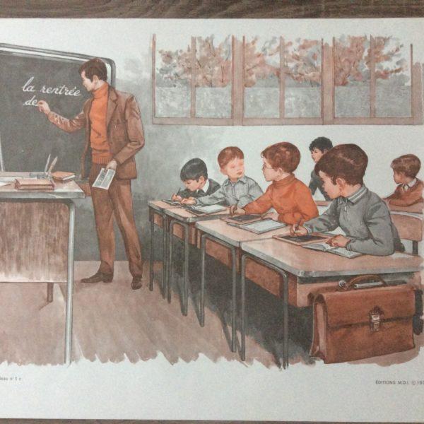 la salle de classe affiche scolaire éditions mdi