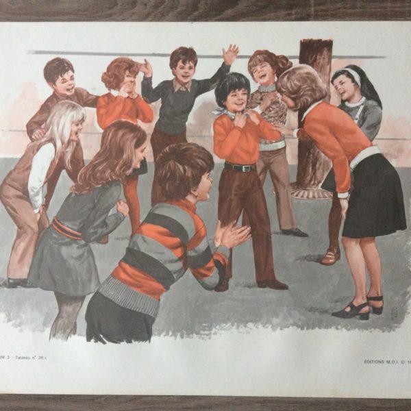 affiche scolaire école la récréation