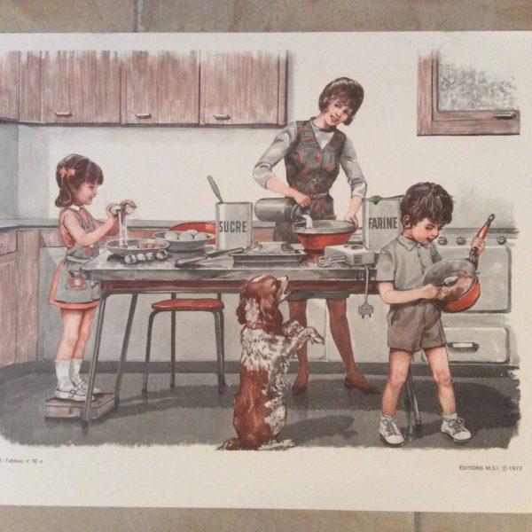affiche scolaire école la cuisine