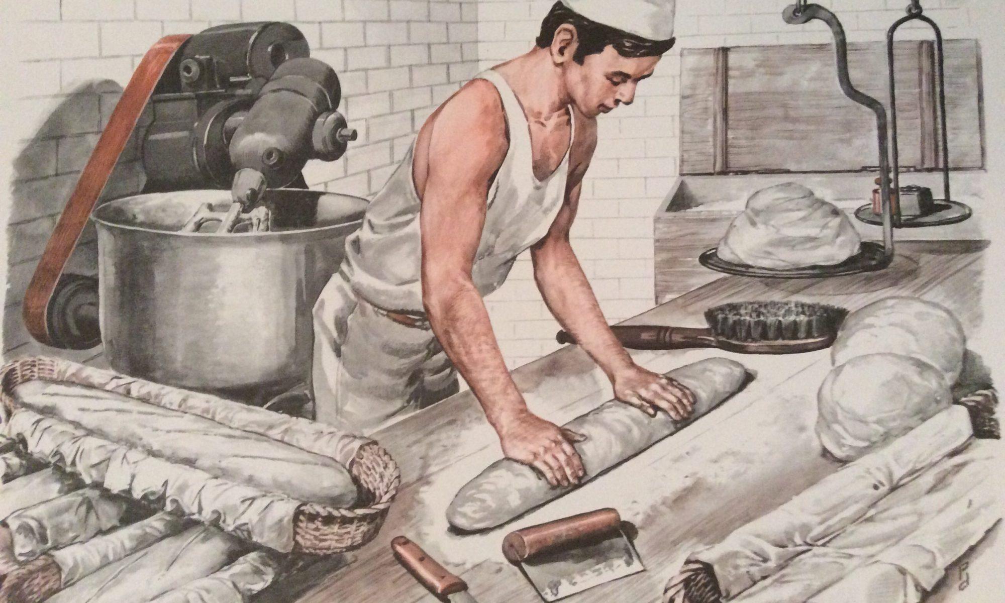 tableau pédagogique scolaire ancien mdi le boulanger