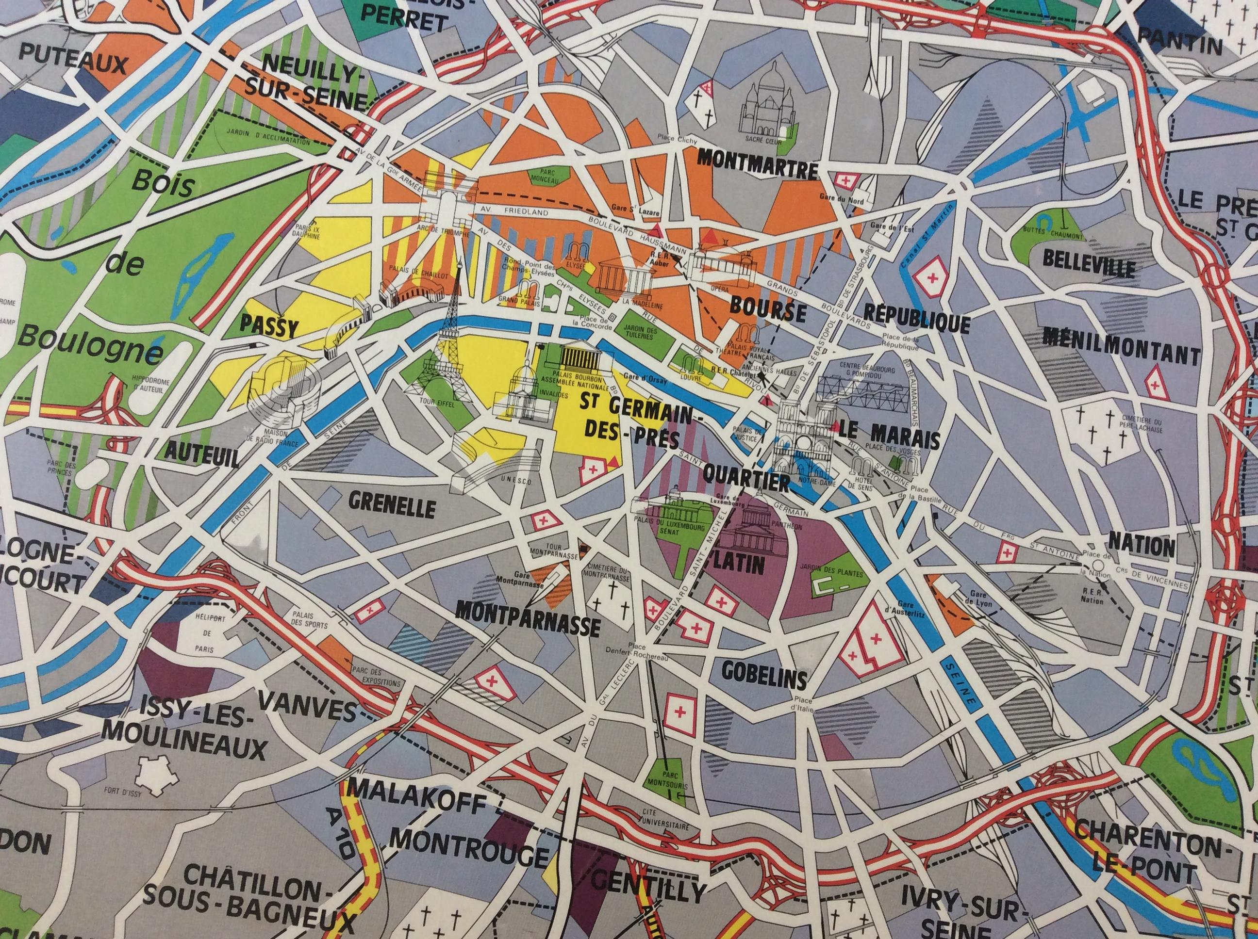 Affiche Scolaire Vintage Paris Capitale