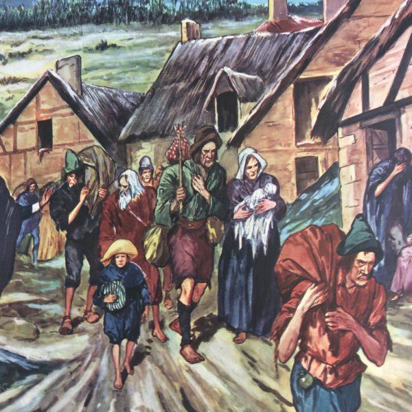 Affiche Scolaire Histoire Souffances des Paysans à la fin du Règne de Louis XIV