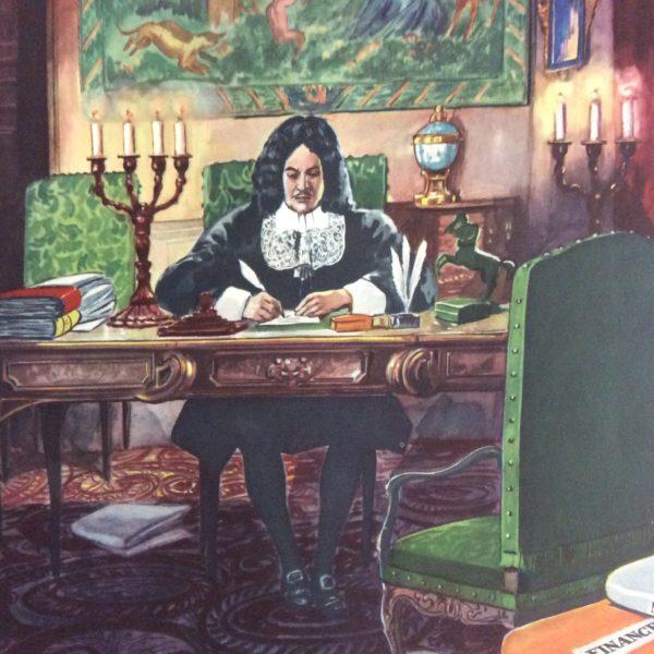 Affiche Scolaire École Histoire Rossignol Colbert
