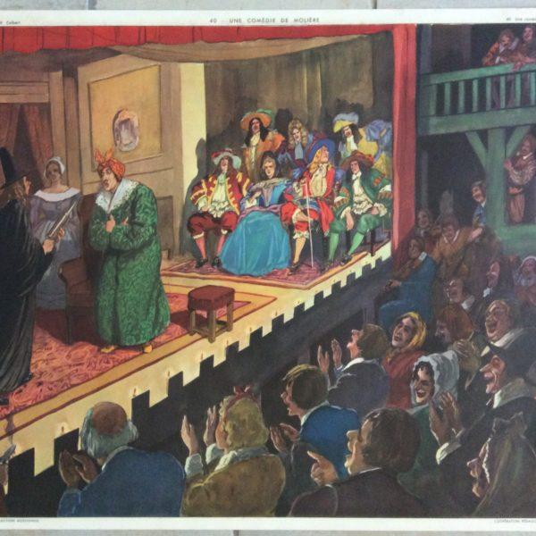 Affiche Scolaire École Histoire Rossignol Molière