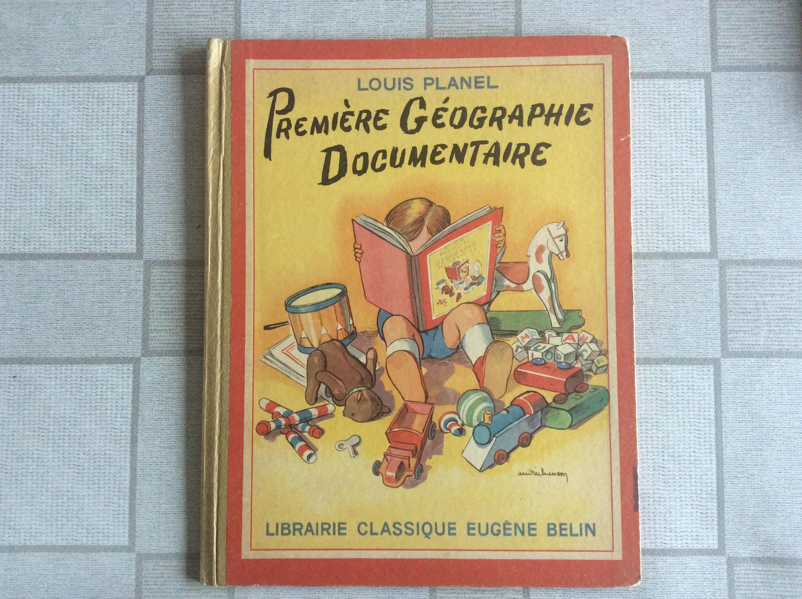 Livre Scolaire Ecole Geographie Documentaire Eugene Belin Louis Planel