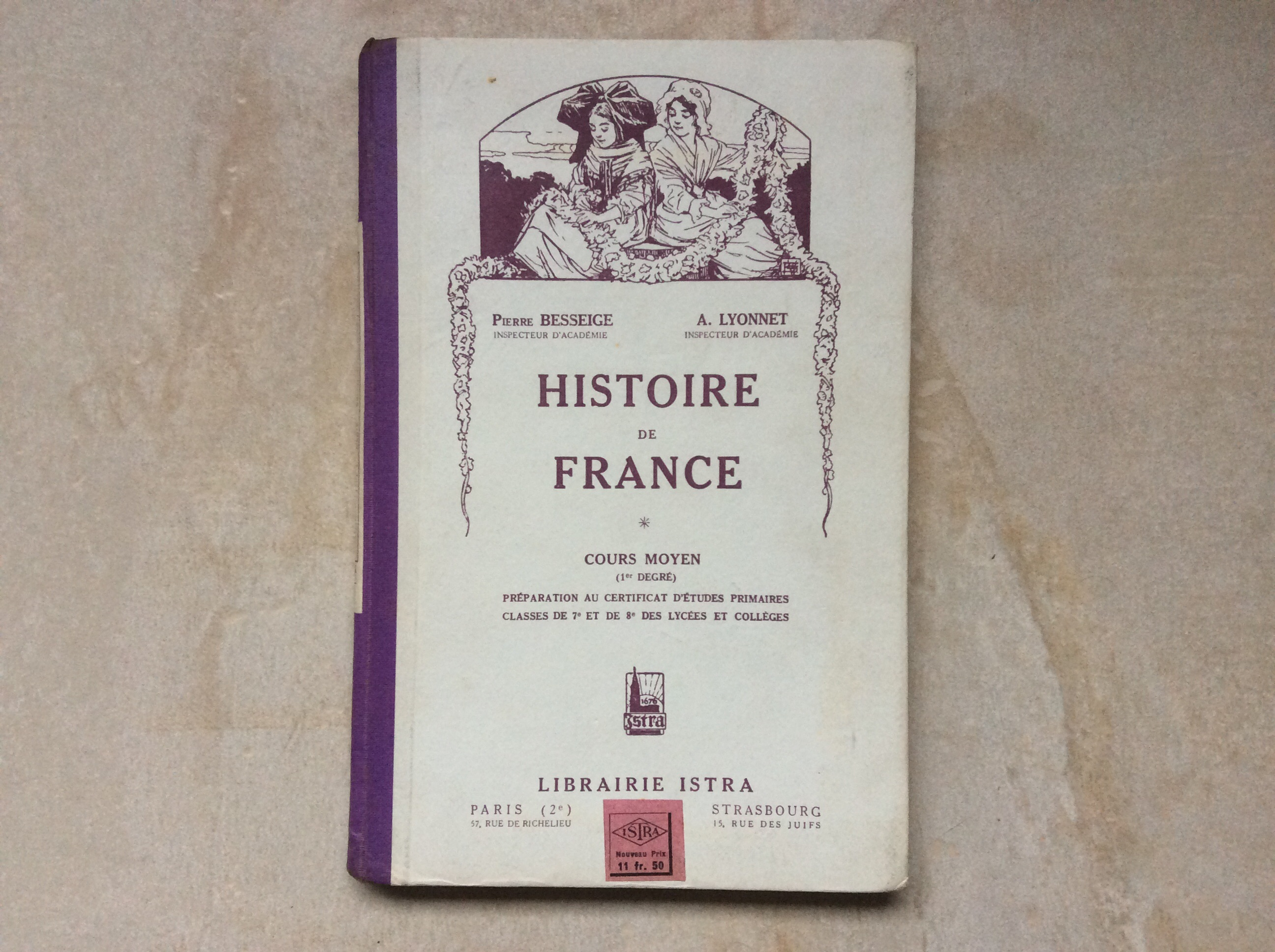 Livre Scolaire Ecole Ancien Histoire De France Cours Moyen