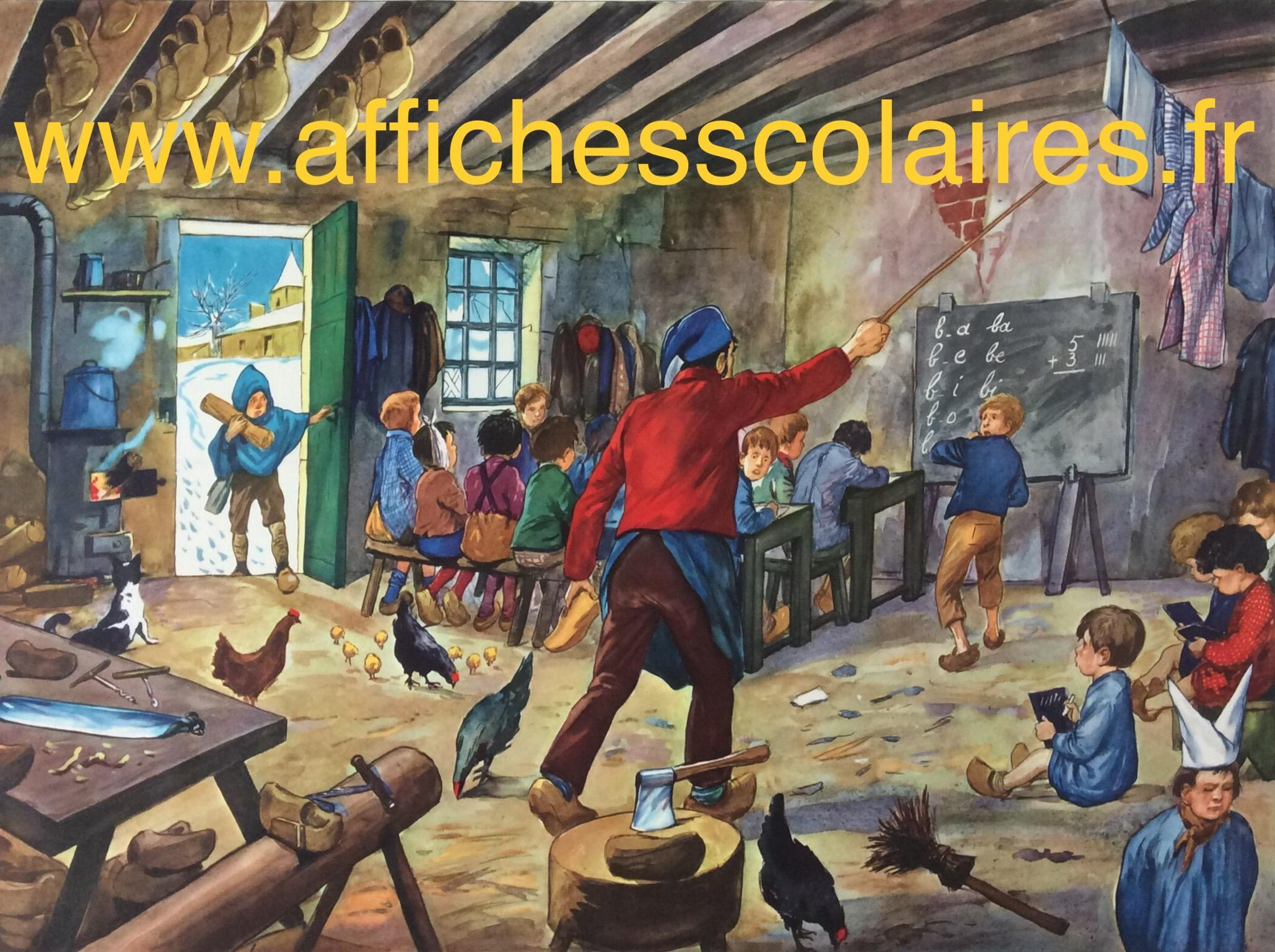 AFFICHE SCOLAIRE ÉCOLE JULES FERRY