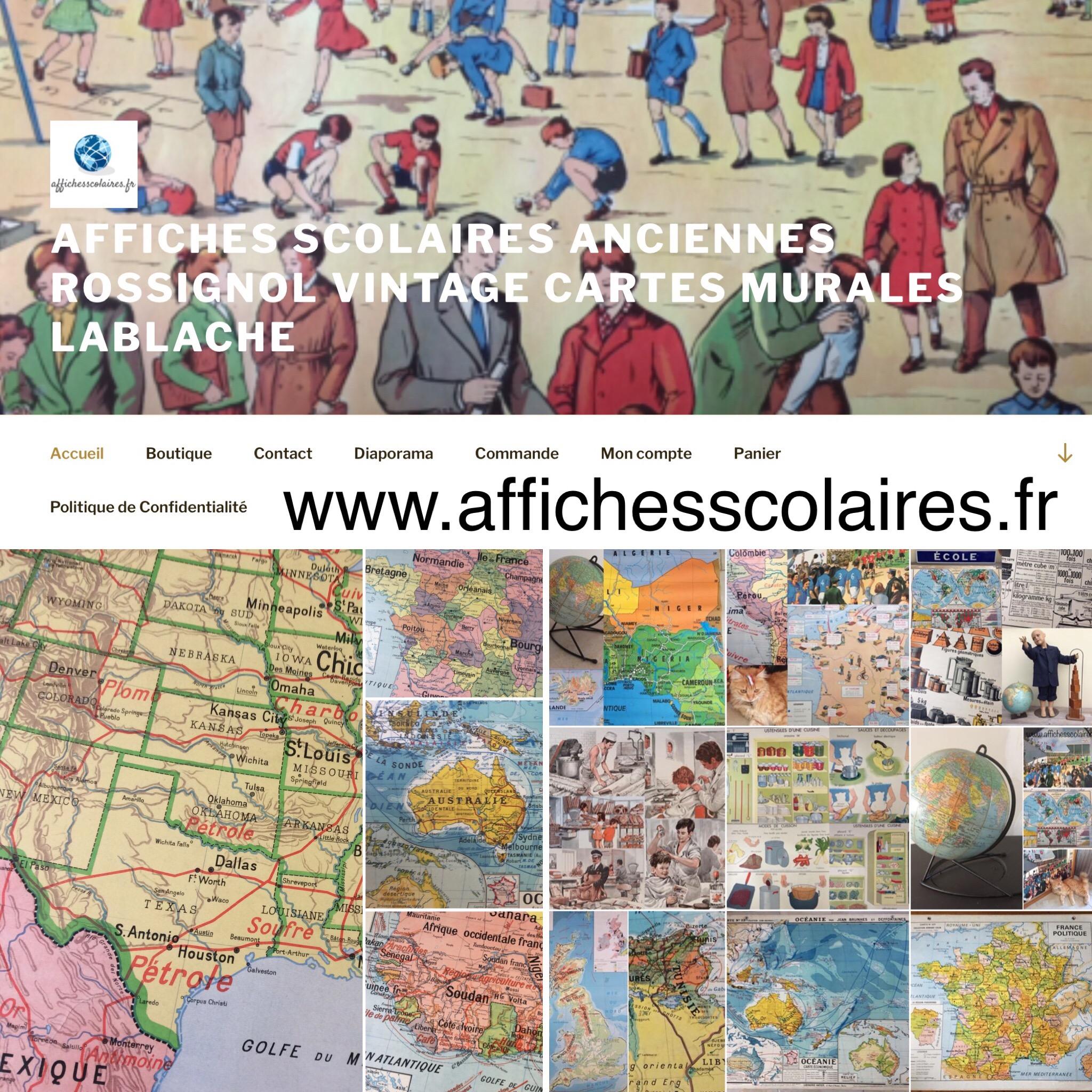 Affiche Scolaire École Vintage Déco