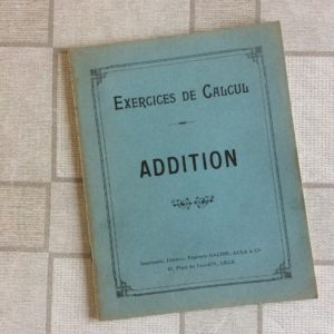 CAHIER EXERCICES DE CALCUL ADDITION