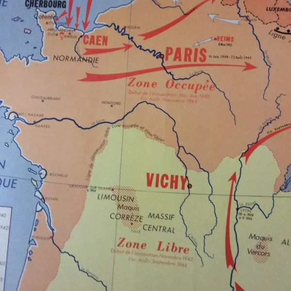 AFFICHE SCOLAIRE ÉCOLE FRANCE DE 1939 À 1945